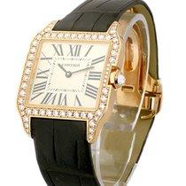 Cartier WH100351 Santos Dumont w/Diamond Case - Small Sizae -...