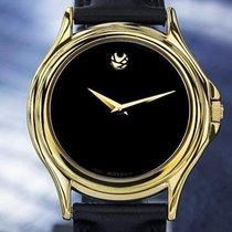 Movado Museum Rare Mens Swiss Gold-plated Dress Watch C1990s 6614