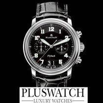 Blancpain Léman Flyback Chronograph Grande Date Black Dial G