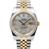 Rolex Datejust 36 116243-MOPDDJ White Mother of Pearl Diamond...