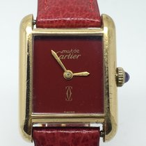 Cartier MUST RARE CANDY RED MANUAL GOLD PLATED