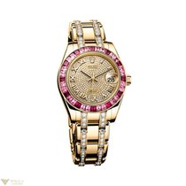 Rolex Oyster Perpetual Datejust Pearlmaster 18K Yellow Gold...