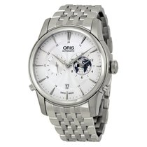 Oris Artelier GMT Automatic Silver White Dial Stainless Steel...