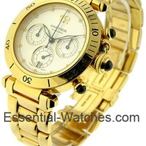 Cartier PASHA 38mm Yellow Gold Chronograph
