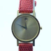 Movado Museum Damen Watch Uhr Rar Stahl Vergoldet Top Quartz 25mm