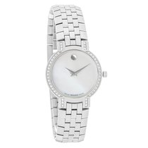 Movado Faceto Diamond Ladies MOP Dial Swiss Quartz Watch 0605146