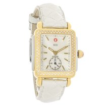 Michele Ladies Deco Diamond 2 Tone  Quartz Watch MW06V01C5025