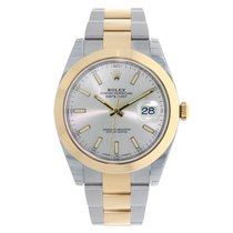 Rolex DATEJUST 41mm Steel & 18K Yellow Gold Silver Dial