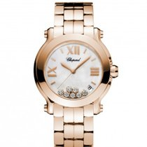 Chopard 277472-5002Happy Sport 36mm Gold Diamonds Pearl Lady
