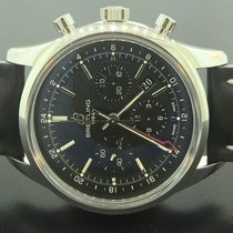Breitling Transocean Chronograph GMT Black Dial