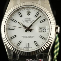 Rolex New Datejust 36mm 116139 White Gold Leather 2016...