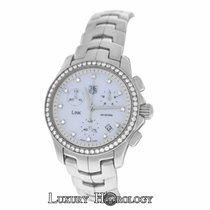 TAG Heuer Ladies  Link CJF1314 Diamond Dial & Bezel MOP...