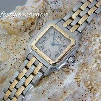Cartier Panthere Damenuhr (Stahl / 2 Streifen Gold) mit...