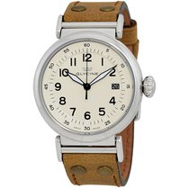 Glycine F 104 Automatic White Dial Men's Leather Watch