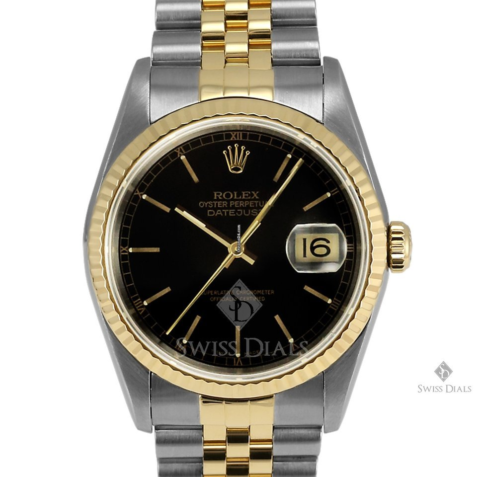 black and gold aviators  datejust steel and