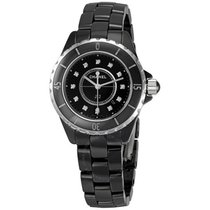 Chanel J12 Diamonds Black Ceramic Ladies Watch