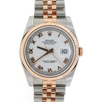 Rolex Datejust Rose Gold/SS 36MM Jubilee Watch 116231