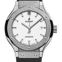 Hublot : 33mm Classic Fusion Titanium Opalin Watch