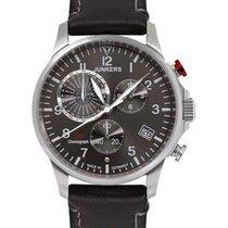 Junkers Worldtimer Swiss Eta Quartz Watch 42mm S/s Case...