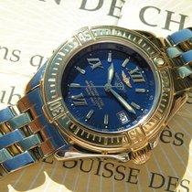 Breitling B Class D71365 Blue Dial Steel Gold Band Esfera Azul...