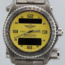 Breitling Emergency Titanium Yellow 43mm Men's Watch...