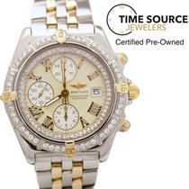 Breitling Crosswind Automatic 18K Gold & SS Diamond B13355...