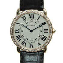Cartier Ronde Louis Cartier 18 K Rose Gold With Diamonds White...
