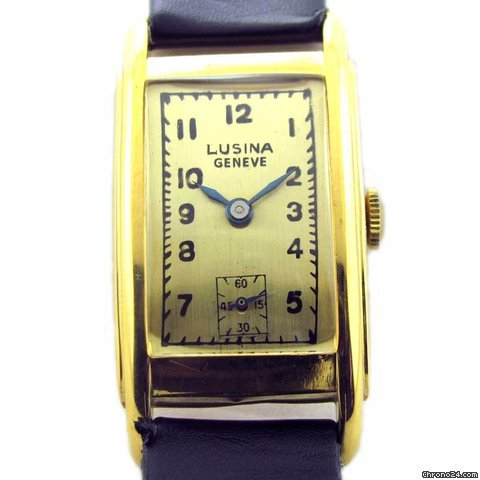 LUSINA GENEVE SIDE SECOND MANUAL WINDING WATCH