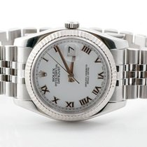 "Rolex Mens ""New Style"" Datejust - White Roman Dial -..."