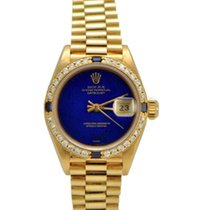 Rolex Ladies President Diamond and Sapphire Bezel, Blue Dial