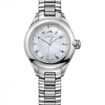 Ebel Onde Steel, Mother Of Pearl Dial, 12 Diamonds Crown