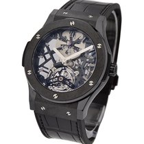 Hublot Classic Fusion Skeleton Tourbillon in Black Ceramic