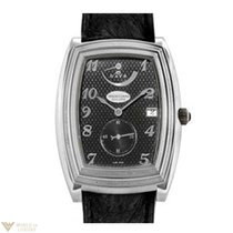 Parmigiani Fleurier Ionica 8-Day Platinum Leather Men`s Watch