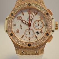 Hublot Big Bang Rose Gold on White Custom Diamond Set IN STOCK