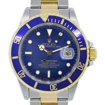 Rolex Submariner 16803 Two Tone Blue Dial Mens Watch