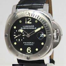 Panerai Luminor Submersible PAM 24 Steel 44mm Mens Watch...