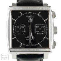 TAG Heuer Uhr Monaco Automatik Edelstahl Chronograph Ref. CAW...