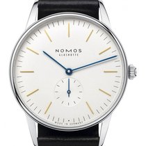 Nomos Orion 38 Handaufzug Uhr mit Saphirglasboden 384