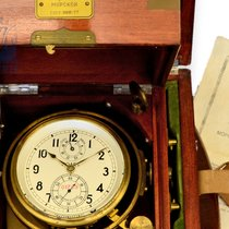 Poljot Marine deck watch/box chronometer: fine Russian box...