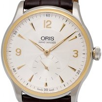 Oris Artelier Manual Wind Steel & Gold Mens Strap Watch...