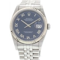 Rolex Men's Rolex Datejust Blue Dial 16234 Stainless Steel...