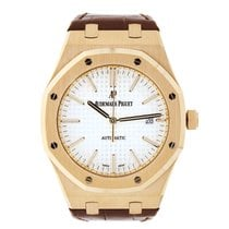 Audemars Piguet AP Royal Oak 41 Rose Gold Leather Strap