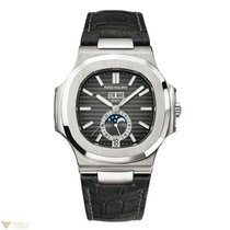 Patek Philippe Nautilus GMT Moon Phases Automatic Stainless...