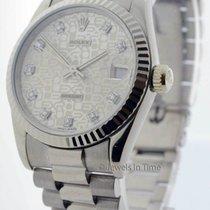 Rolex Midsize Datejust President 18k White Gold & Jubilee...