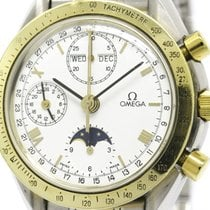 Omega Polished Omega Speedmaster Triple Date Moon Phase Watch...