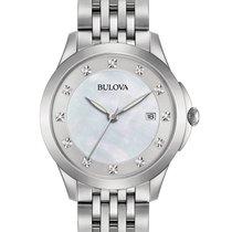 Bulova Womens Diamond Watch - Stainless - Bracelet - White MOP...