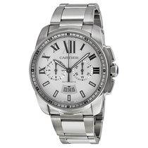 Cartier Calibre de Cartier Silver Dial Chronograph Automatic...
