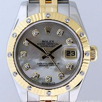Rolex Datejust Ladies 179313 White MOP 12 Diamond Bezel...
