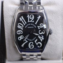 Franck Muller Curvex Casablanca Watch 2852 Black Dial Stainles...