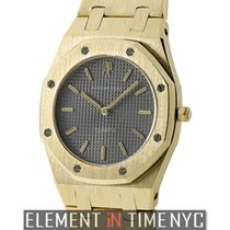 Audemars Piguet Royal Oak Ladies 18k Yellow Gold Grey Dial...